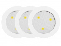 51% off Globe Electric 25787 LED Under Cabinet Puck Lights, 3-Pack