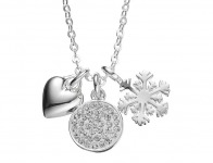 67% off Silver Expressions Crystal Heart, Snowflake & Disc Charm