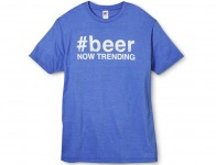 65% off Men's # Beer Graphic Tee - Royal Blue
