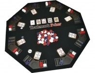 50% off Poker Texas Traveller Table Top and 300 Chip Travel Set
