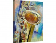 "98% off Art Wall Saxophone Gallery Wrapped Canvas Art, 32"" by 24"""