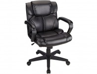 $70 off Brenton Studio Briessa Mid-Back Vinyl Chair, Black