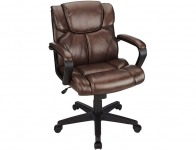 $70 off Brenton Studio Briessa Mid-Back Vinyl Chair, Brown/Black