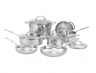 $324 off Cuisinart 77-11G Classic Stainless 11-Pc Cookware Set