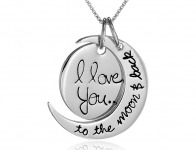 "75% off Sterling Silver ""I Love You To The Moon and Back"" Necklace"