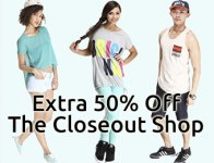 Extra 50% off Closeout Shop w/ Dr Jays promo code: 50DEAL