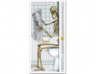 58% off Skeleton Restroom Door Cover Party Accessory