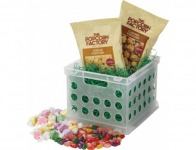 79% off The Popcorn Factory White Crate with Treats