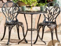 $100 off Christopher Knight Cast Aluminum Outdoor Bistro Set