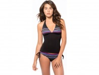 76% off Oakley Women's Velocity Stripe Halter Tankini Top