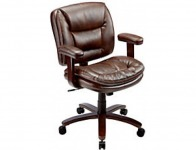 78% off Realspace Elmhart Low-Back Bonded Leather Task Chair