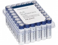 47% off Insignia AA Batteries (48-Pack) - White / Blue
