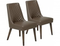 45% off Verve Dark Taupe Dining Chair Set of 2 (8C167)