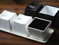 50% off Keyboard Button Style Cups Set (Set of 3, black or white)