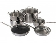 73% off Cuisinart 12-Piece Triply Stainless Cookware Set