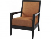 "75% off Cade Armchair 38""Hx28""W, Textured Orange"
