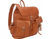 69% off Piel Large Buckle Flap Backpack - Saddle