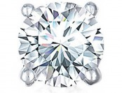 89% off 3/4 CT. Single Round Diamond Studs 10K White Gold