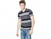 73% off Guess Factory Balfore Striped V-Neck Tee