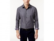 65% off Tasso Elba Men's Grid-Pattern Shirt