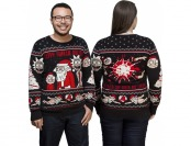 25% off Rick and Morty Happy Human Holiday Knit Sweater