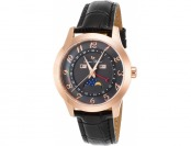 91% off Lucien Piccard Artista Leather MOP Rose-Tone SS Watch