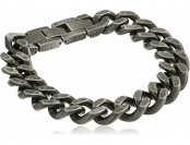 91% off Antique Finish Men's Stainless Steel Curb Chain Bracelet