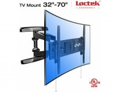 51% off Loctek R2L Full Motion Wall Mount Bracket for Curved TVs