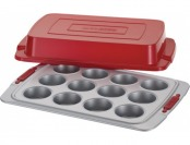 75% off Cake Boss Deluxe 12-Cup Covered Muffin Pan