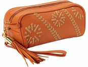65% off Clava Carmel Whipstitch Wristlet Handbag