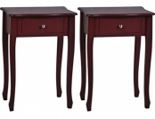 65% off Crestview Treasure Red 1-Drawer Accent Tables Set of 2