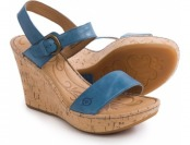 84% off Born Lenore Wedge Sandals - Leather (For Women)