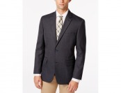 88% off Tasso Elba Linen-Blend Navy Neat Classic-Fit Sport Coat