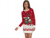 60% off Juniors' It's Our Time Christmas Sweaterdress