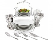 75% off Cooks 53-pc. Porcelain Dinnerware Catering Buffet Set