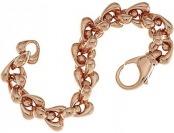 73% off Bronzo Italia Polished Status Teardrop Rolo Link Bracelet