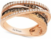 $3,511 off Le Vian Chocolatier Diamond Multi-Band Crisscross Ring
