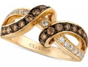 65% off Le Vian Chocolatier Diamond Interlocking Ring