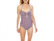 83% off Liz Claiborne Road To Ibiza Cut-Out 1-Pc Swimsuit