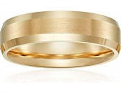 88% off Men's 14k Yellow Gold 6mm Comfort Fit Carved Wedding Band