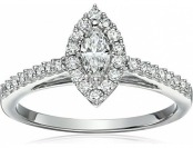 83% off 10k White Diamond Engagement Ring (5/8 cttw)