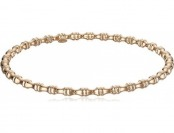 88% off 14k Rose Gold Bamboo Slip-On Bangle Bracelet