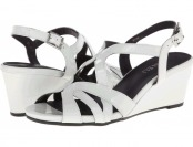 85% off Vaneli Miriam (White) Women's Wedge Shoes