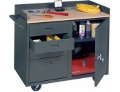 81% off Edsal MB304 Steel Mobile Service Bench with 4 Large Drawers