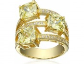 71% off Charles Winston Sterling Silver Peridot and CZ Ring
