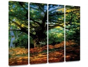 83% off ArtWall 'Bodmer at Oak at Fontainebleau' 4-Piece Canvas Art