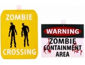 62% off Zombie Warning Sign, 2-Pack