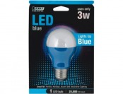64% off Feit Blue LED A-Line Party Bulb (A19/B/10KLED)