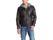 85% off Levi's Faux Leather Trucker Hoody with Sherpa Lining