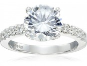 92% off Sterling Silver Cubic Zirconia Ladies Ring